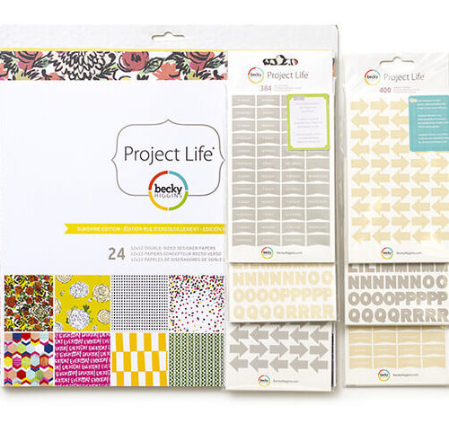 """Becky Higgins Project Life Sunshine Edition 12""""x12"""" Designer Paper Collection Pack"""