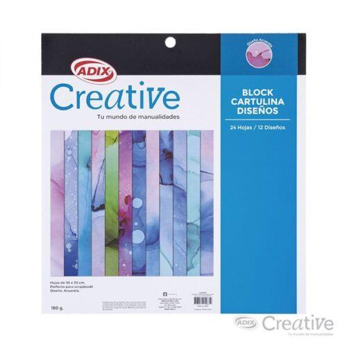 Cartulina 12 Diseños Acuarela 24u 180g (019) Creative