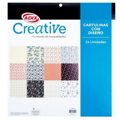 Cartulina 12 Diseños Garden 24u (012) Creative